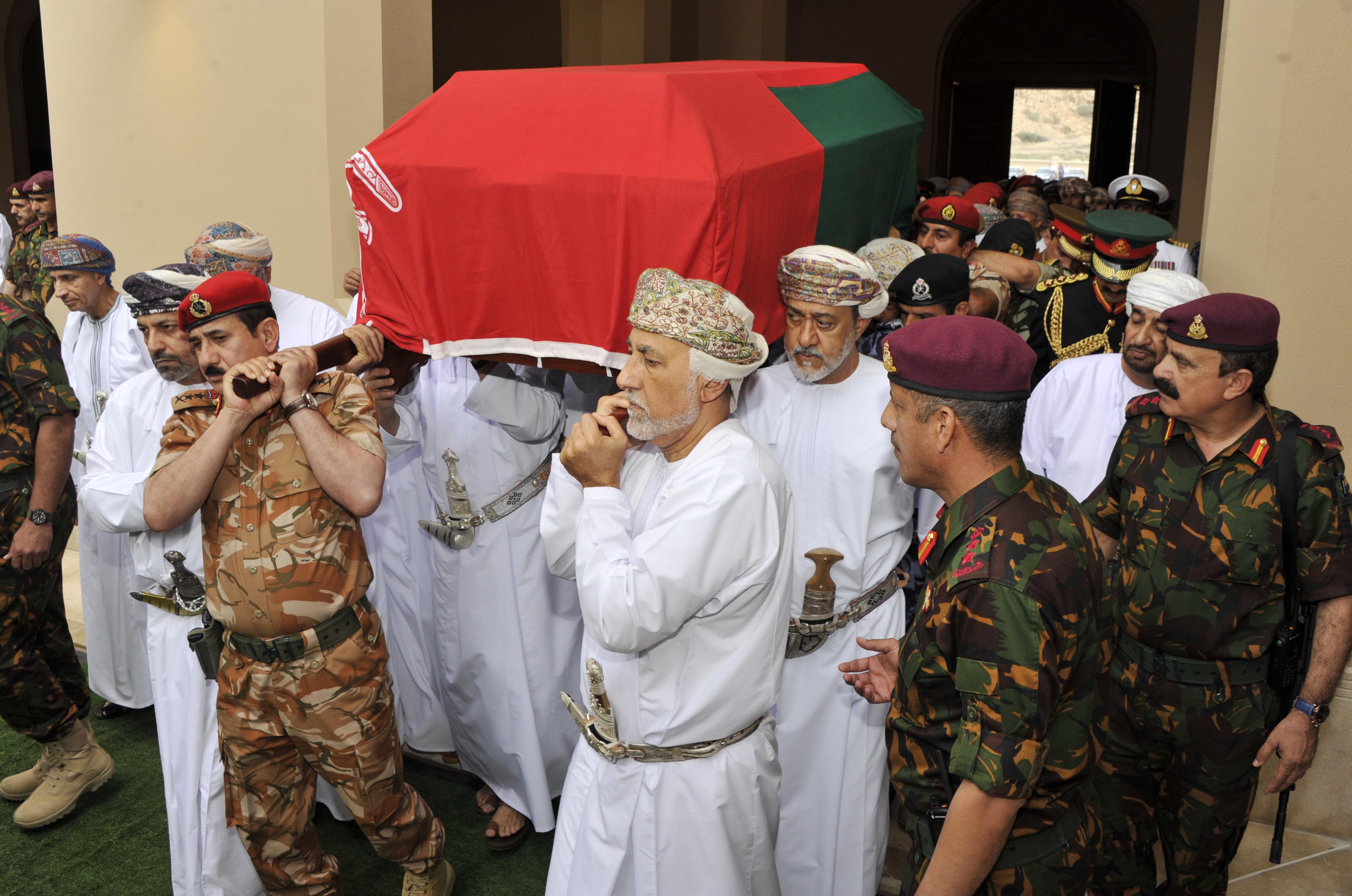 سلطنة عمان تشيع السلطان الراحل قابوس بن سعيد