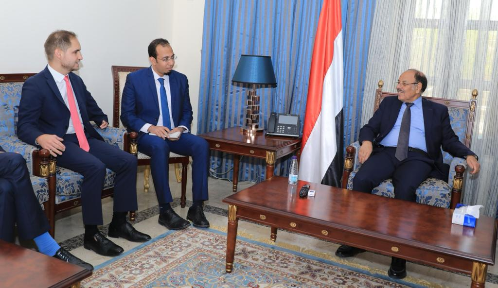 نائب رئيس الجمهورية يلتقي القائم بأعمال السفير الألماني لدى اليمن