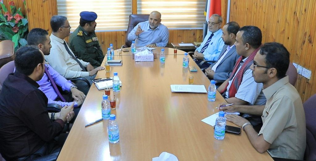 مناقشة تنفيذ برنامج تأهيلي لمأموري الضبط القضائي العام والعسكري بوادي حضرموت والصحراء